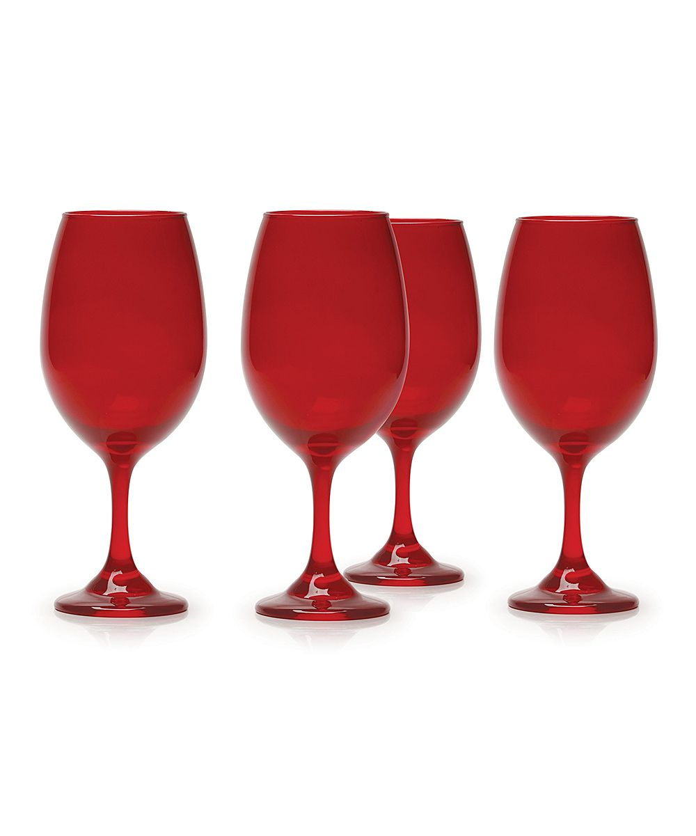 Moonlight Red 20 Oz Wine Glass Set Of Four Zulily Wine Glass Wine Glass Set 20 Oz Wine Glass