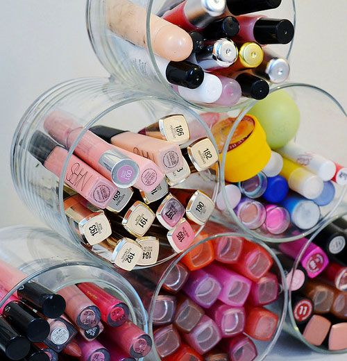 Click pic for 7 Make up Storage Organization Ideas - Repurpose Old Candle Jars - DIY Cosmetic Organizers