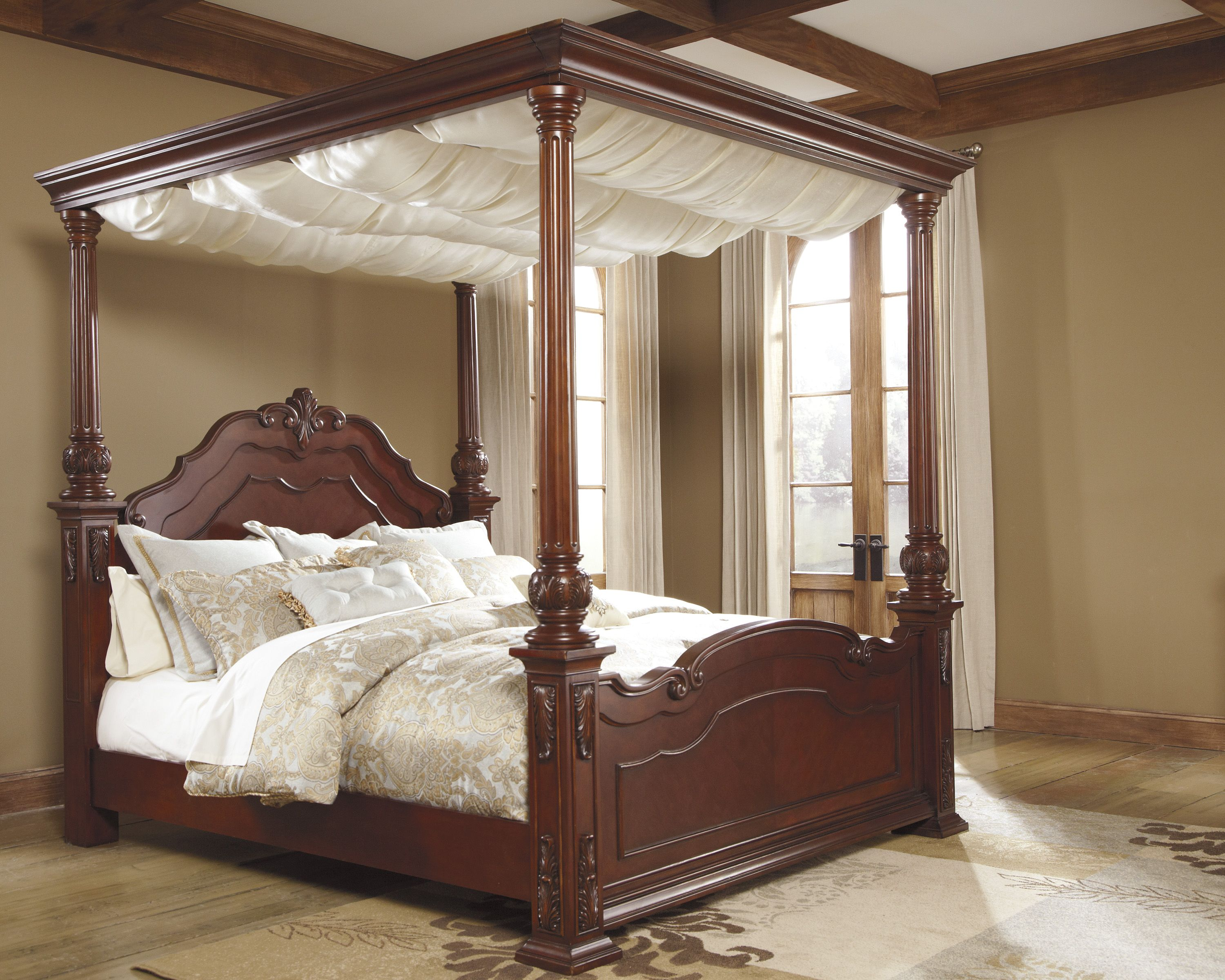 Poster Bed With Canopy buy signature designashley b698-50,b698-72,b698-99 beds online