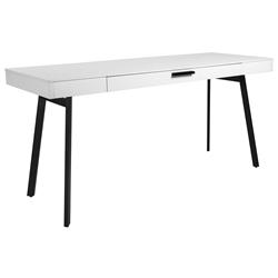 Hart Modern White Desk By Euro Style In 2020 Modern White Desk Office Desk White Desk Office