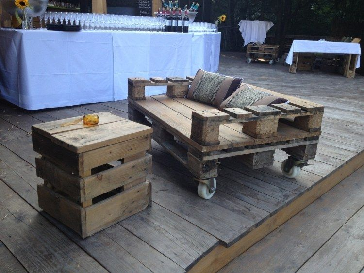 kleine funktionale Nebentische und Sessel für Garten selber bauen - mbel aus bauholz selber bauen