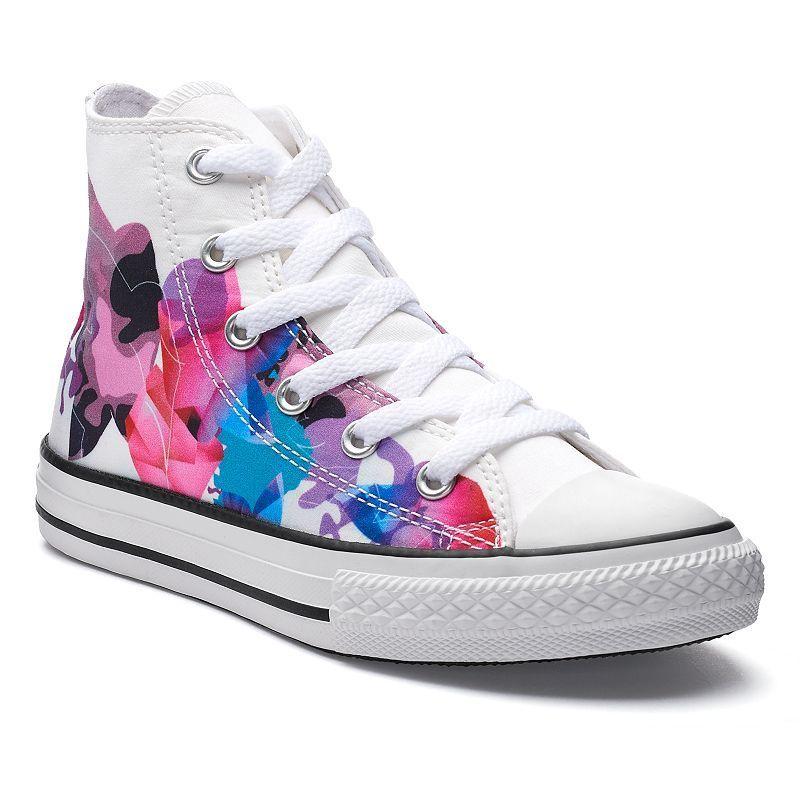 98344b6b7b50fd Girls  Converse Chuck Taylor All Star Print High Top Sneakers ...