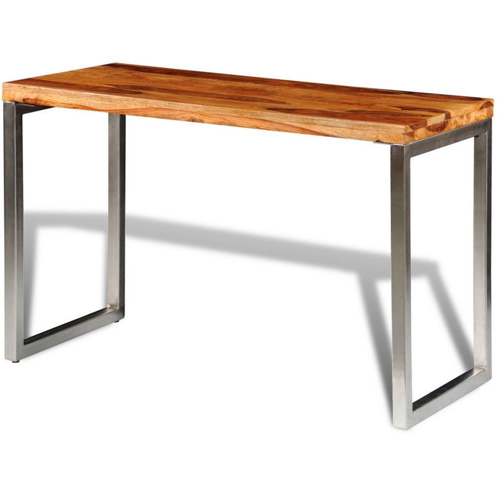 Details About Solid Wood Dining Table Kitchen Handmade Furniture Home Office Desk Steel Legs Dining Table In Kitchen Solid Wood Dining Table Wood Dining Table