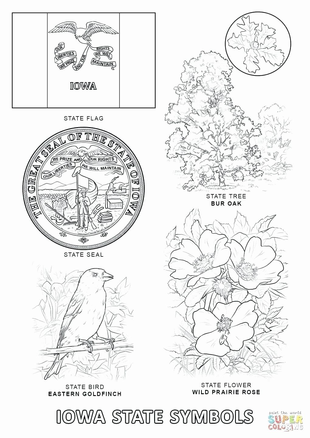 Iowa State Flag Coloring Page Di 2020