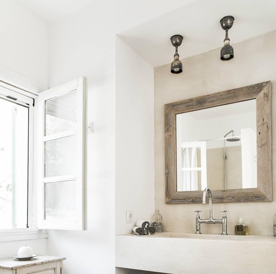 Spiegel Seawashed Spiegel Holz Spiegel Lampe Badezimmer