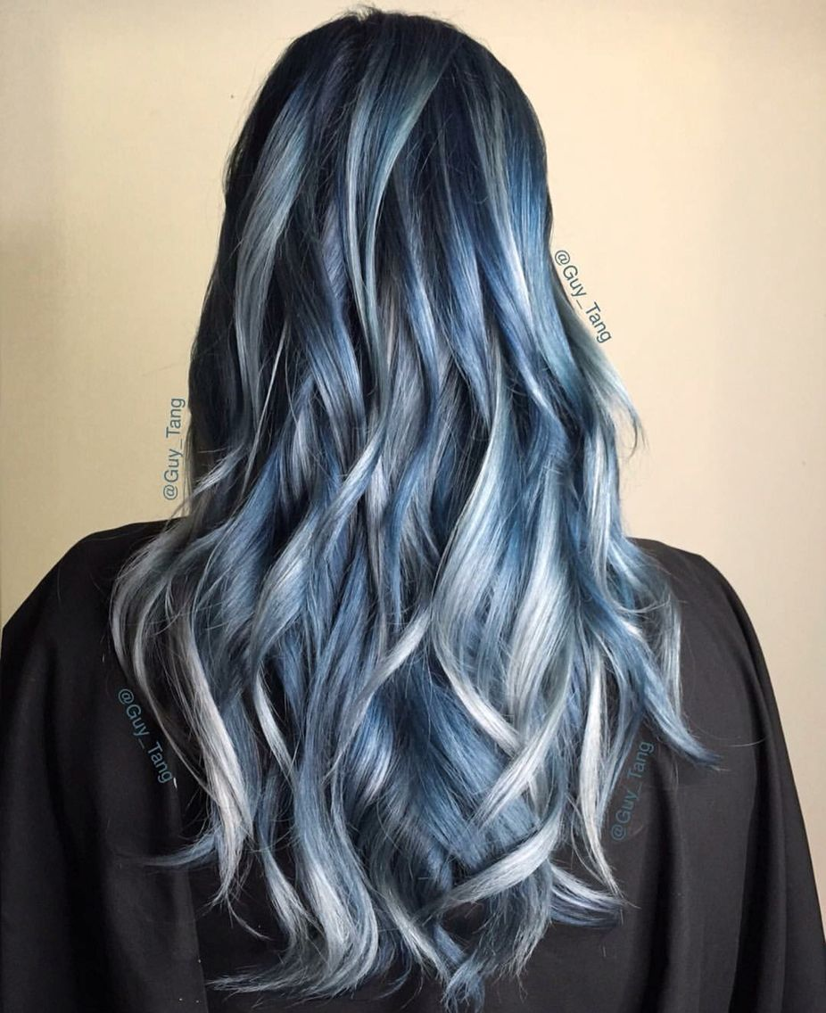 Icy Blue And Granny Colour By Guy Tang Hair Styles Hair Color Unique Balayage Hair