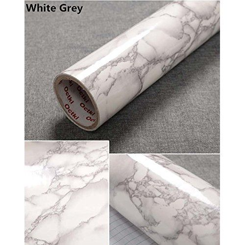 Grey Granite Look Marble Effect Contact Paper Film Vinyl Self