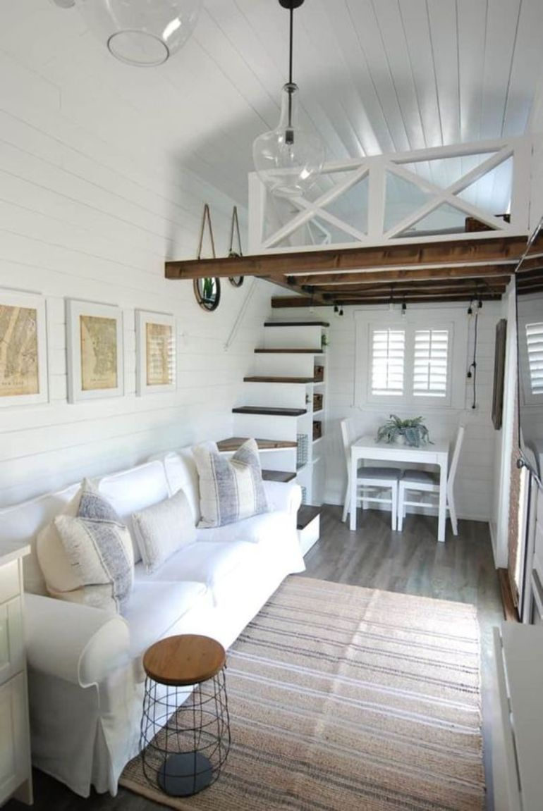 Delightful Tiny Living Rooms Which Enchant Us Tiny House Living Room Tiny House Interior Tiny House Loft