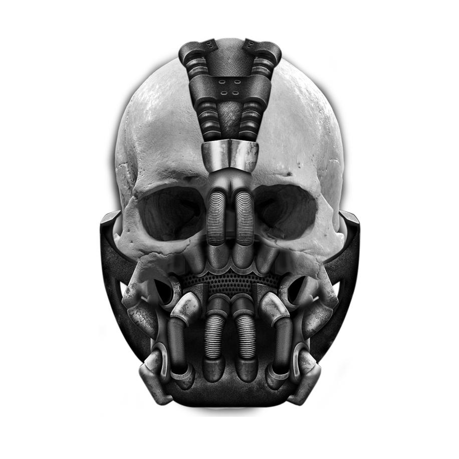 Bane Skull Tattoo Knight Tattoo Bane Mask Skull