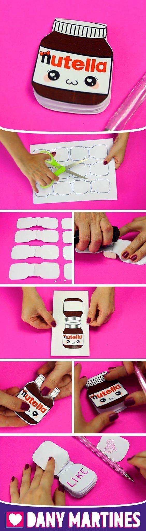 yourself a mini-sketch Nutella, cuddly, mignon, kawaii, notepad ... Make yourself a mini-sketch Nut