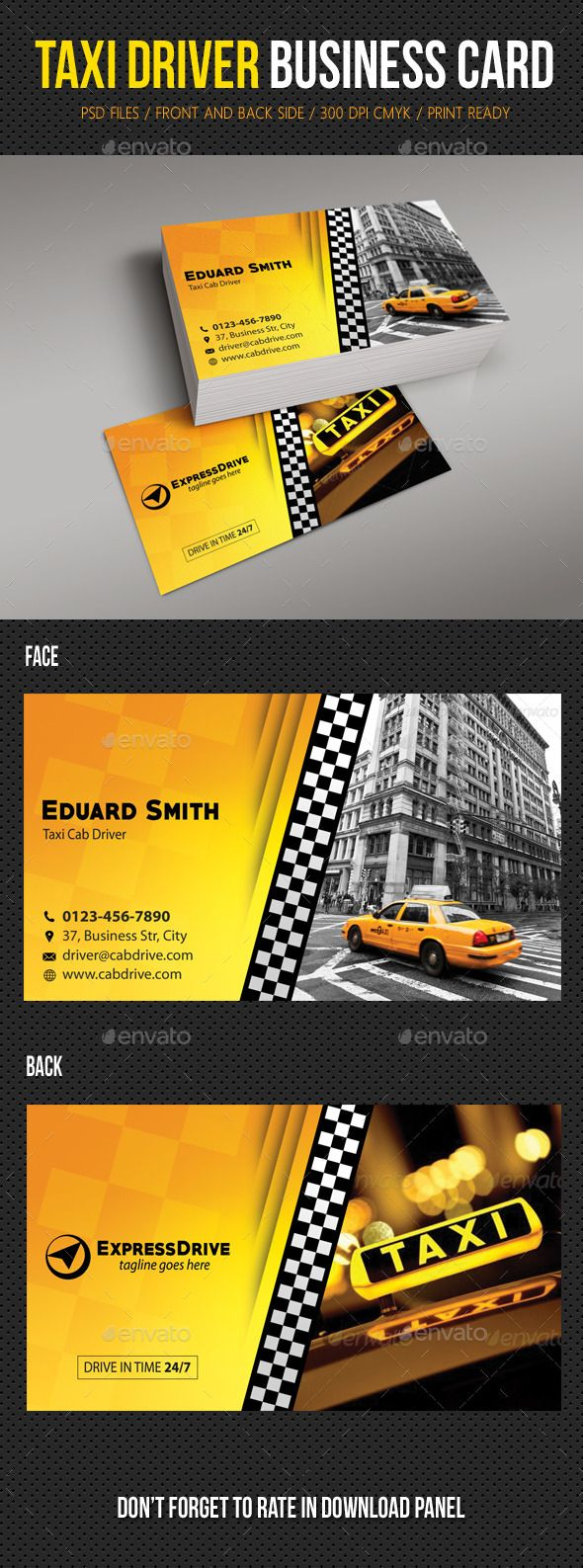 15 business card designs for taxi business business cards taxi driver cab business card magicingreecefo Gallery