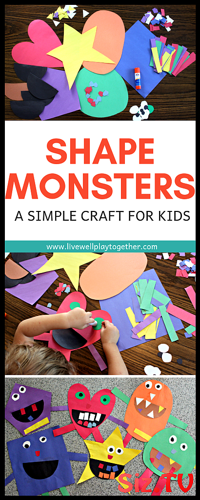 Monster Craft For Kids Shape Monster Craft For Kids Shape Monsters Are An Easy Way To Teach Shapes And Colors To Kids And Make A Great Halloween Craft This Shape Monster Craft Is Easy To Put Together And Lots Of Fun To Create Shape Monsters Are An Easy Way To Teach Shapes And Colors To Kids And Make AShape Monster Craft For Ki...