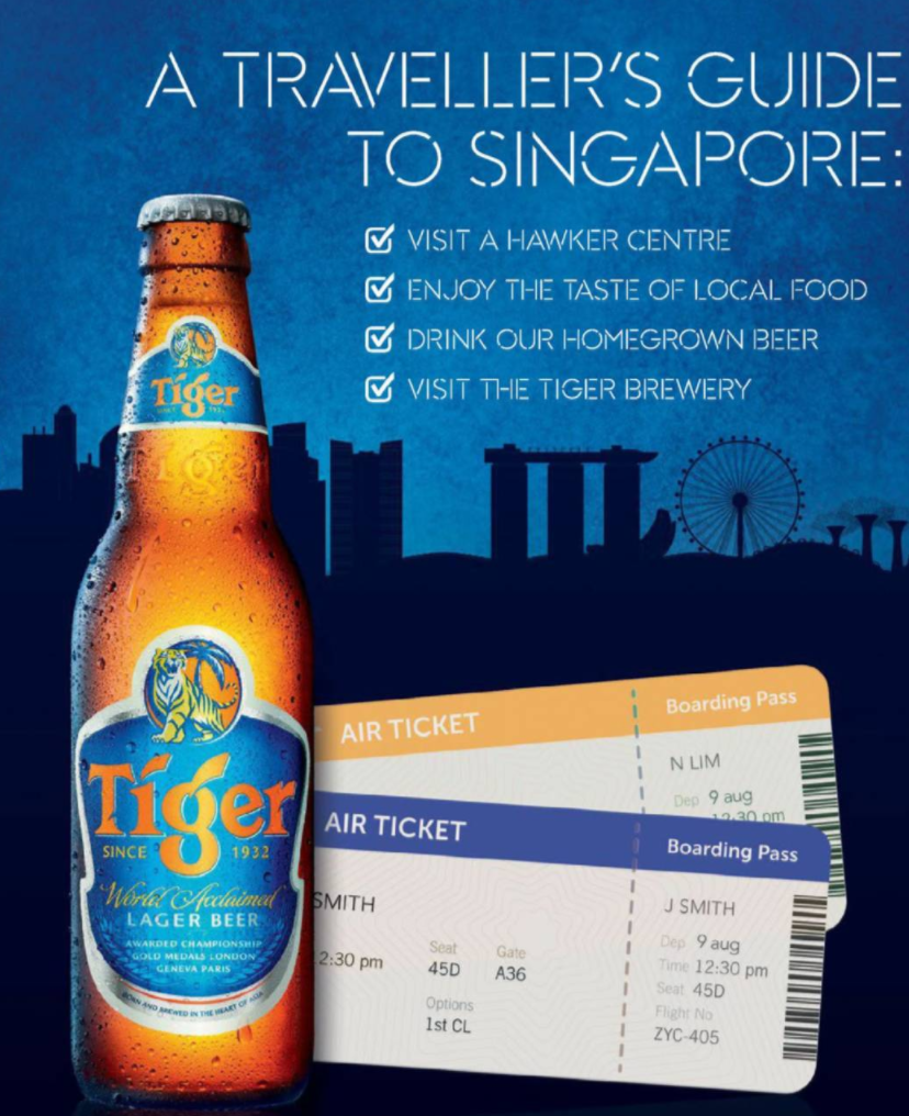 This Is A Good Example Of The Principle Dominance Because The Beer Bottle And Boarding Tickets In The Picture Take Up Most Of The Beer Bottle Lager Beer Beer