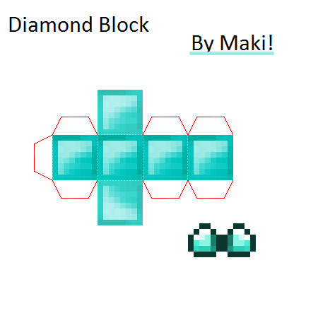 Papercraft Diamond Block Minecraft Printables Paper Crafts Paper Craft Diy Projects