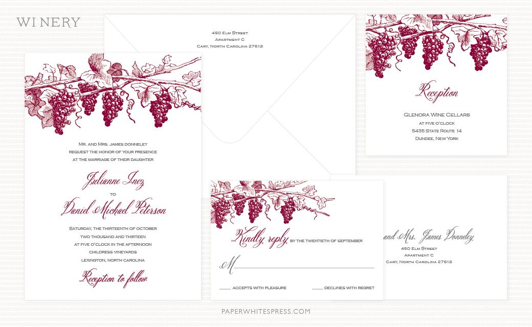 Grapevine Wedding Invitation Suite Happilyeverdavid Pinterest
