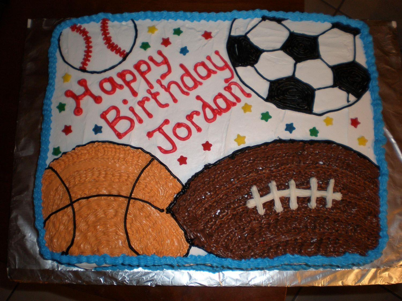 Sports Sheet Cake