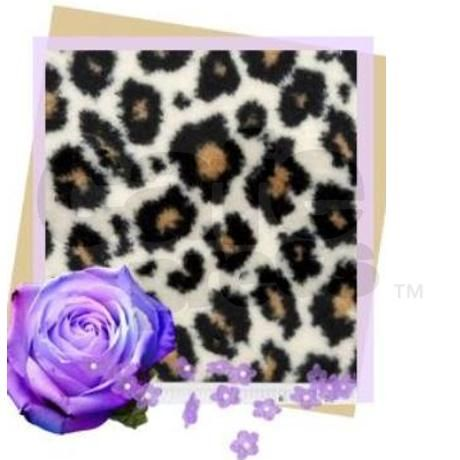 Cheetah And Purple Flower Teardrop Wine Charm on CafePress.com