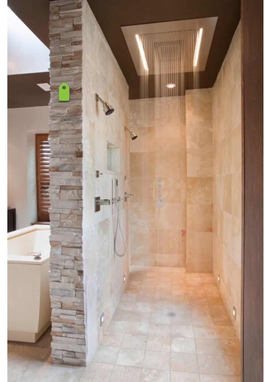 This Is The Shower With Waterfall For The Master And The Wrap Around - Bath wraps bathroom remodeling