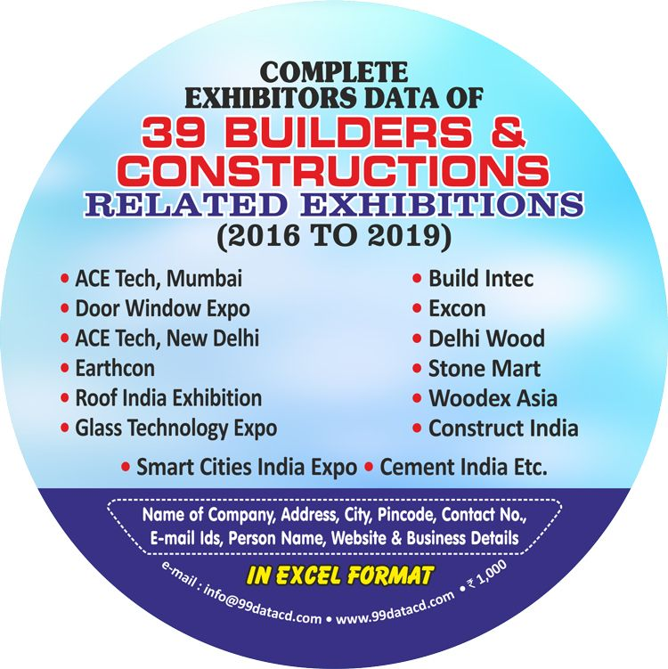 Building Construction Trade Fairs Exhibitors Directory Database In 2020 Building Construction Building Trade Business Data