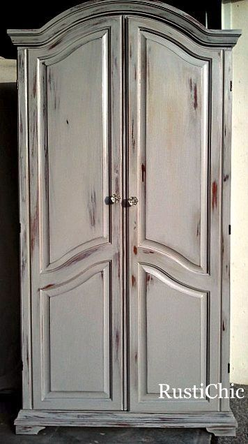 Gorgeous Diy painted armoire...distressed to perfection!