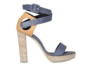 Pierre Hardy Leather and Suede Two-Tone Platform Sandals Profile Photo