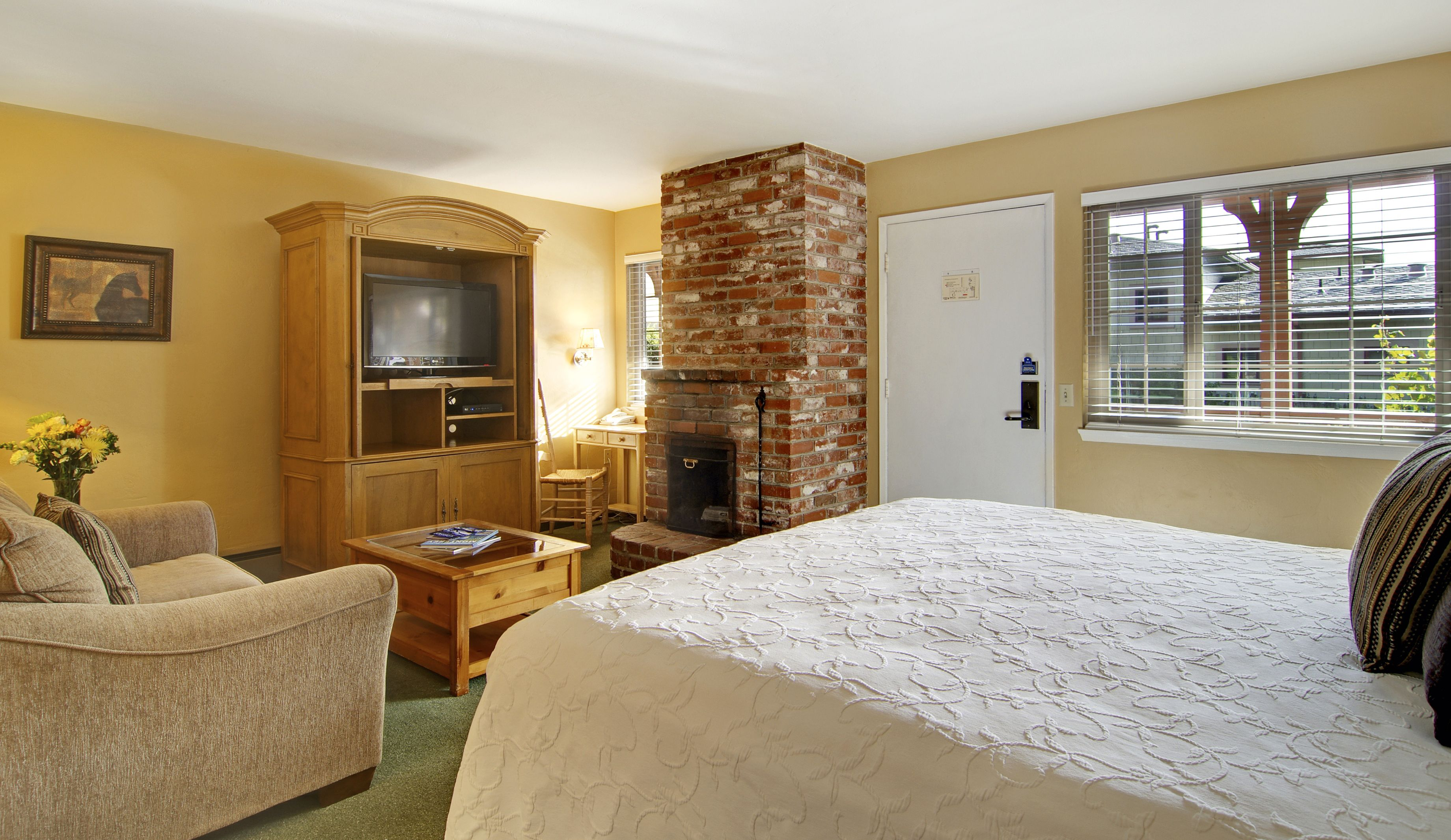 Relax With By Your Room S Fireplace After A Great Day Of Exploring