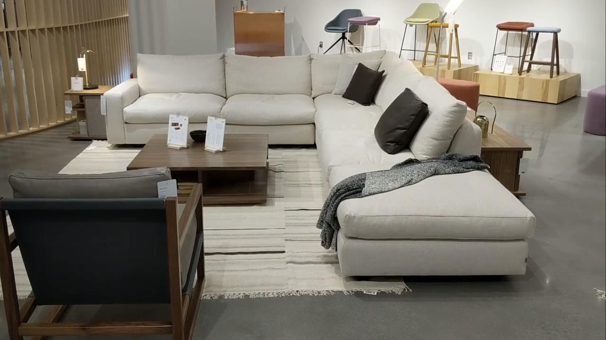 Eq3 Cello Sectional At Rubin S Furniture 2999 Starting In Fabric Furniture Contemporary Furniture Stores Sofa Furniture