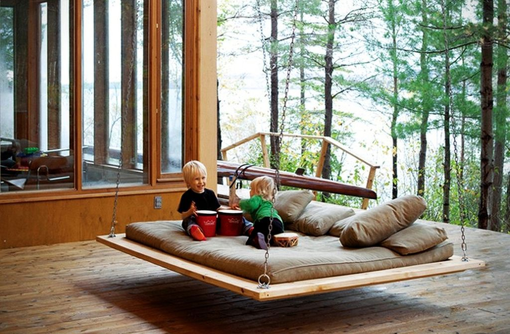 30+ Pallet Bed Swing at Backyard Ideas Outdoor hanging