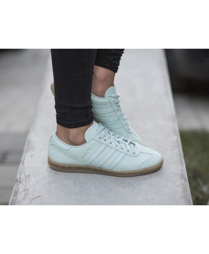 Adidas Hamburg Vapour Green Ice Mint Gum Trainers Sale UK
