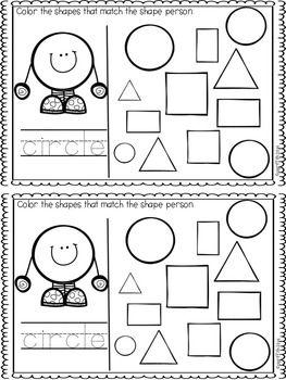 Back to School Kindergarten Math Journals | Figuras geometricas ...