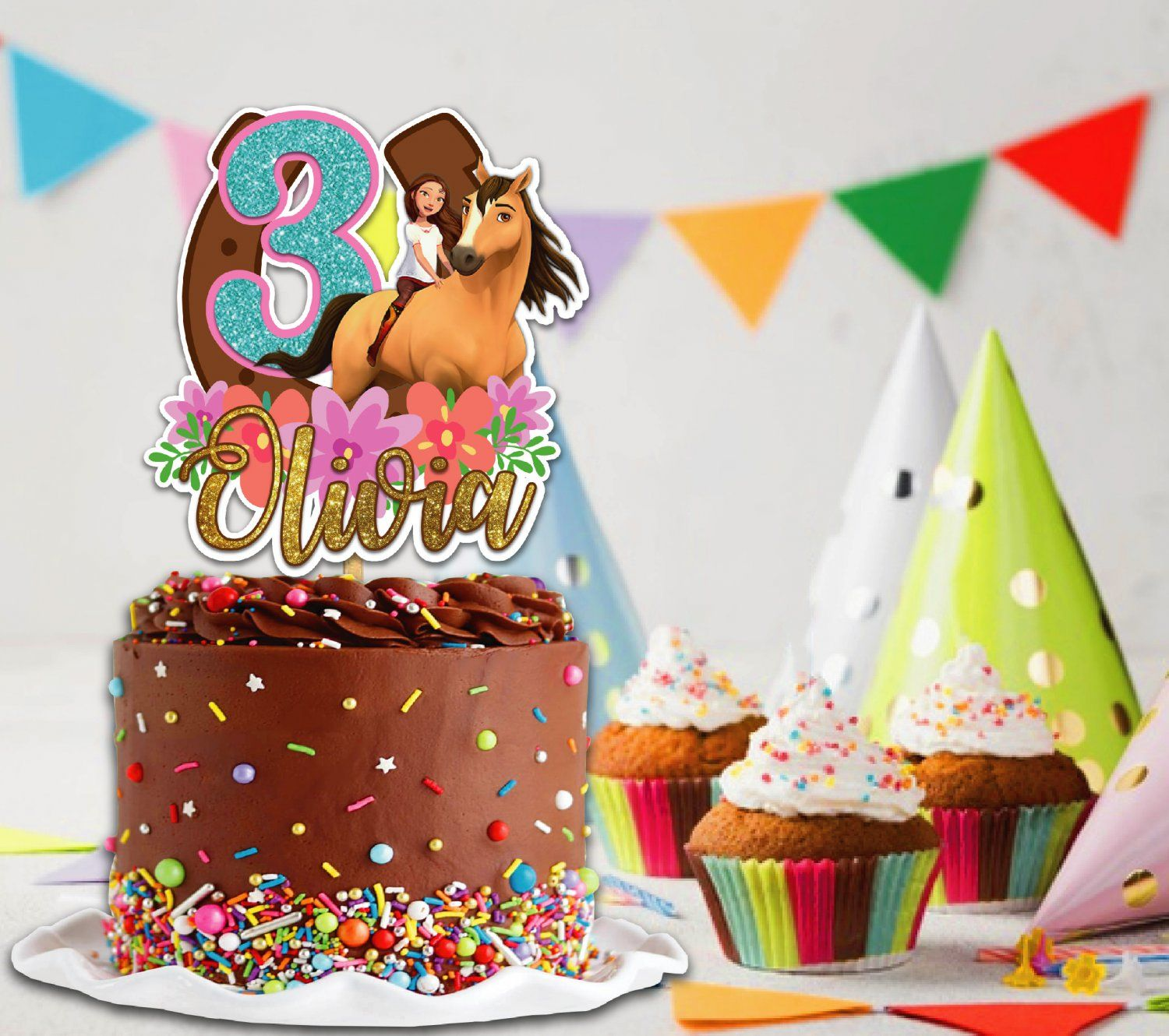22+ Spirit Riding Free Birthday Cake Topper Pics