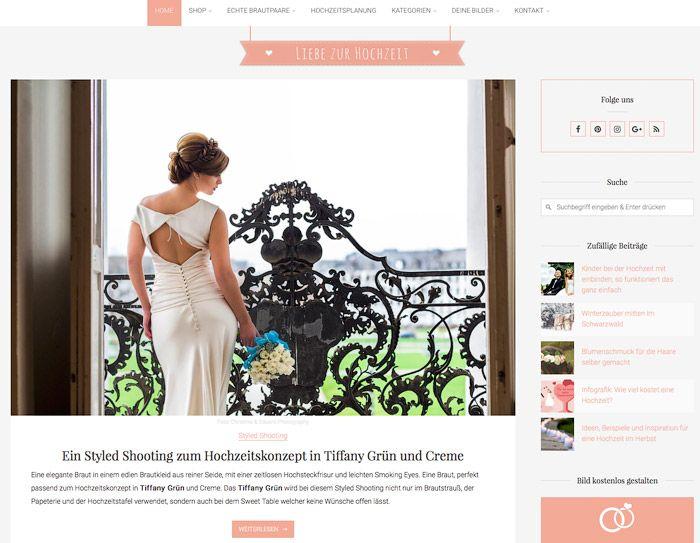 Christina & Eduard Photography: Tiffany Inspiration im Blog Liebe zur Hochzeit gefeatured