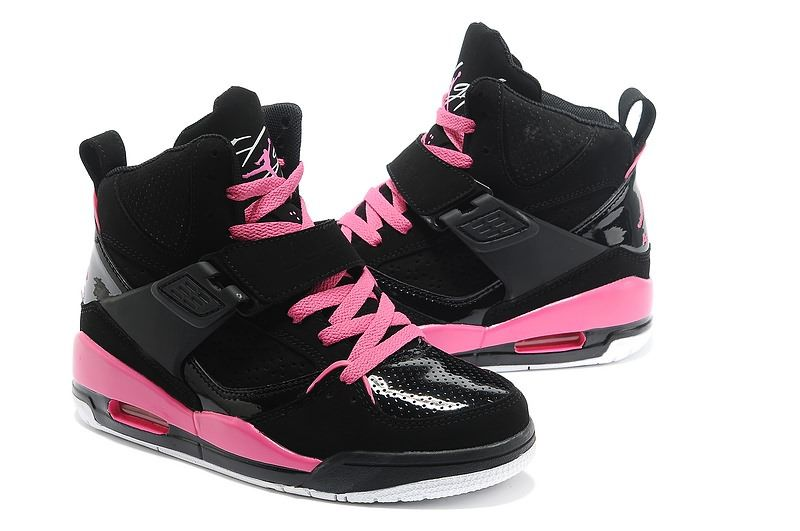 detailed look 7f7a4 42c45 Air Jordan 45 Flight Women AJ45 High Top Black Pink Red GS Athletics Shoes