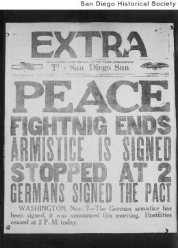 This flier states the ending of WWI. People were outrageously ...