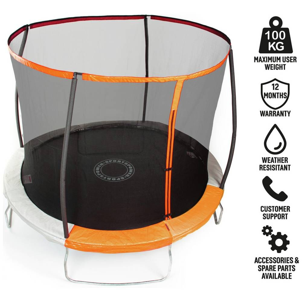 Buy Sportspower 10ft Trampoline With Folding Enclosure