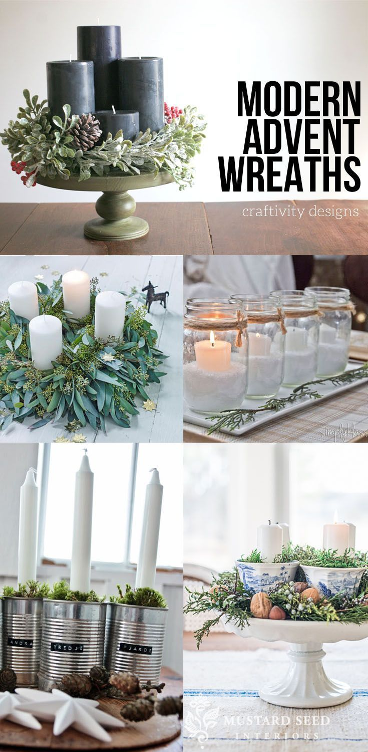 17 Modern Advent Wreath Ideas that are Beautiful and Meaningful! #adventkransen