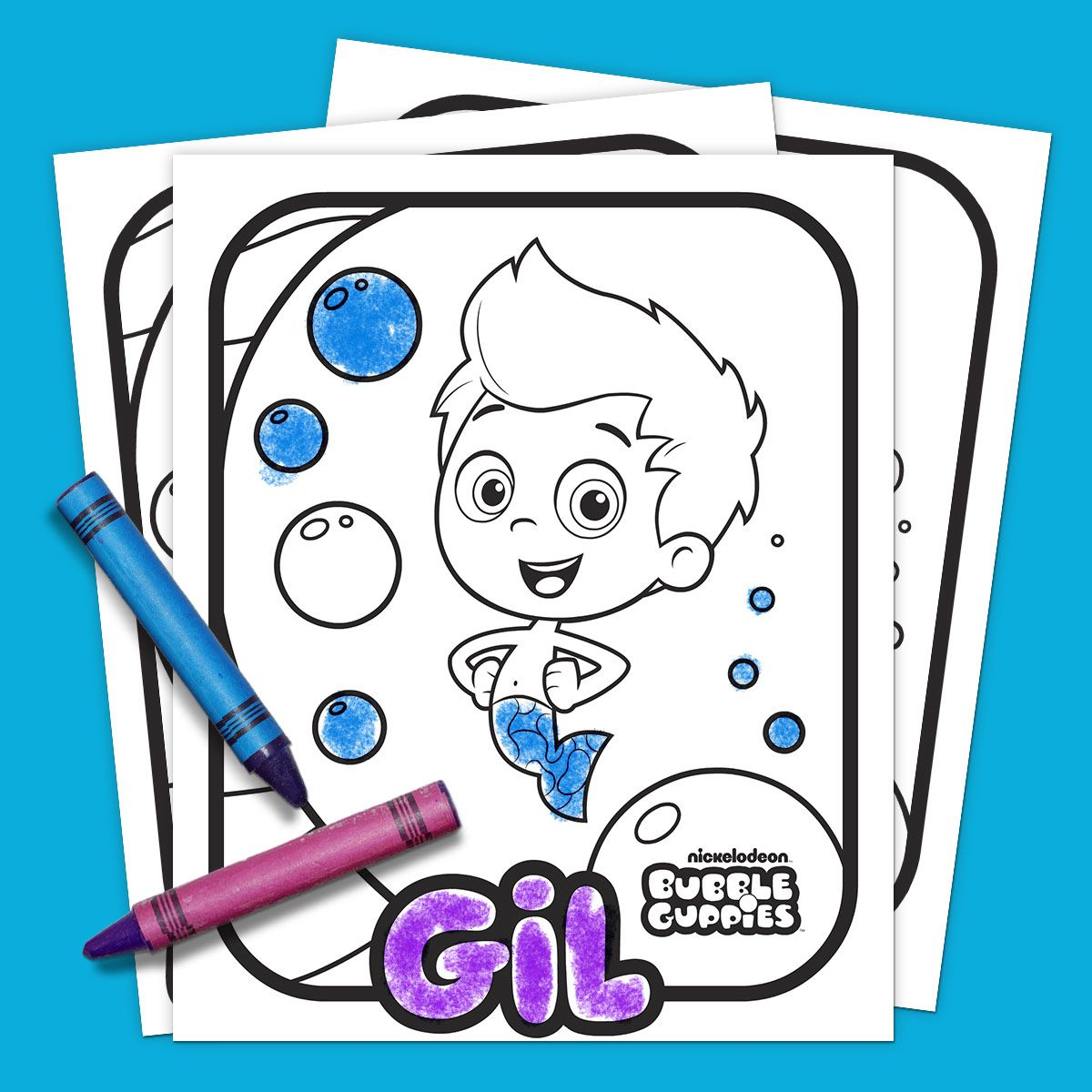 Bubble Guppies Coloring Pack | Cristian, Celebracion y Colorear