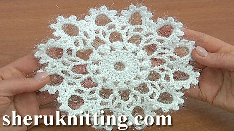 How to Crochet 12-Pointed Snowflake Tutorial 21 Part 2 #crochetelements