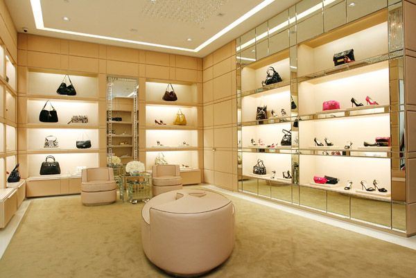 bdc9ca91714f Interior of Jimmy Choo store on Rodeo Drive in Hollywood