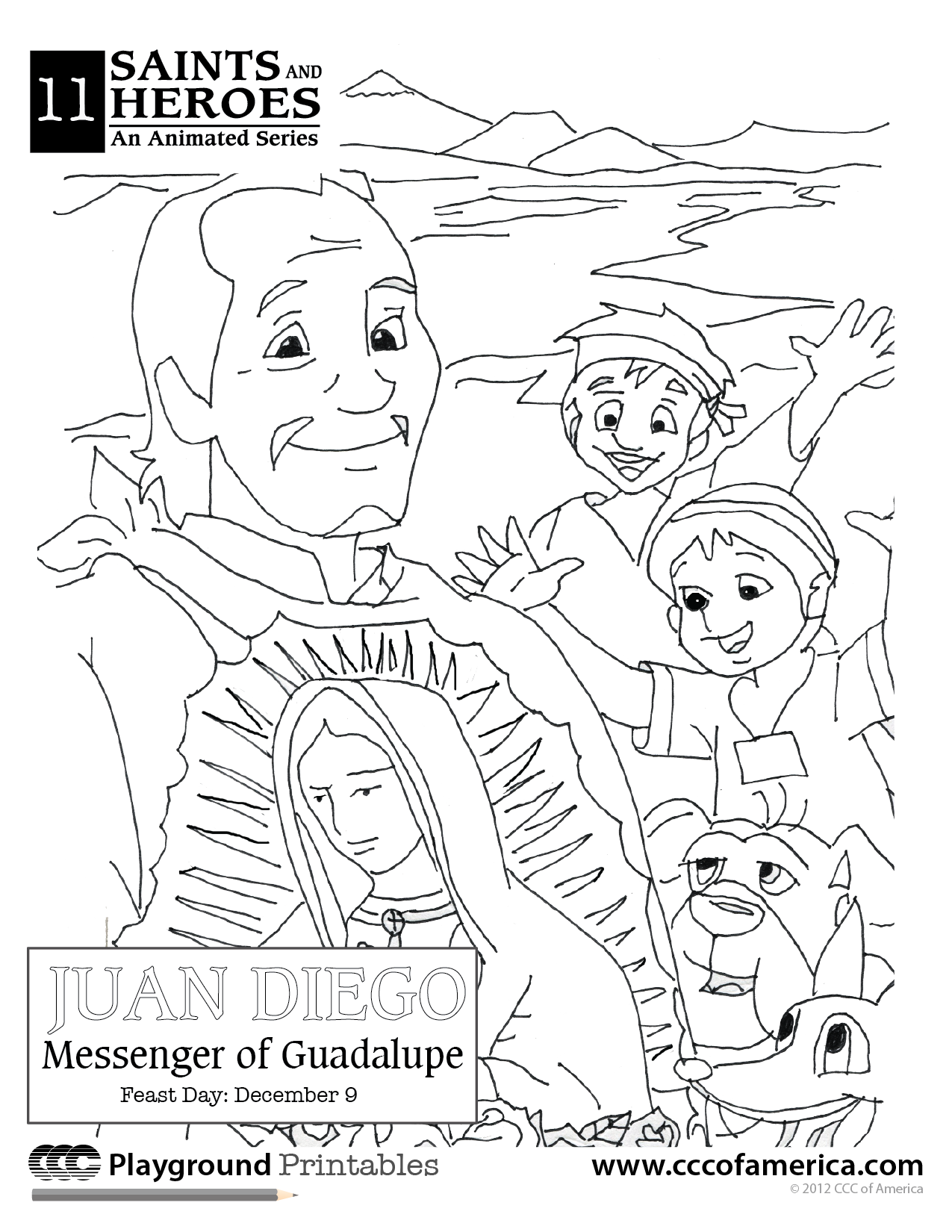 Happy Feast Day of Our Lady of Guadalupe Coloring Page | Entertain ...