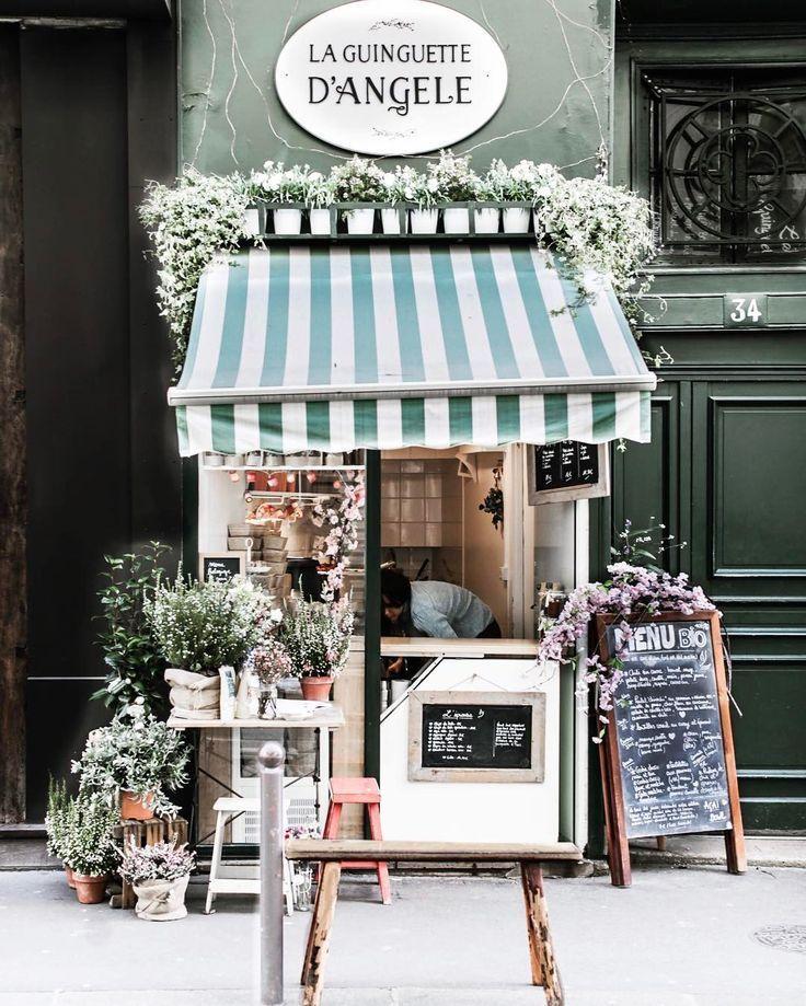 little flower shop in Paris. Travel inspiration
