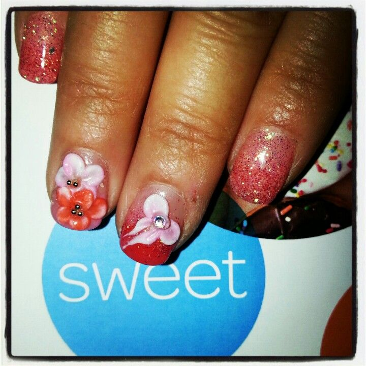 Plumeria Flower Nail Art Flowers Nails Only Gel
