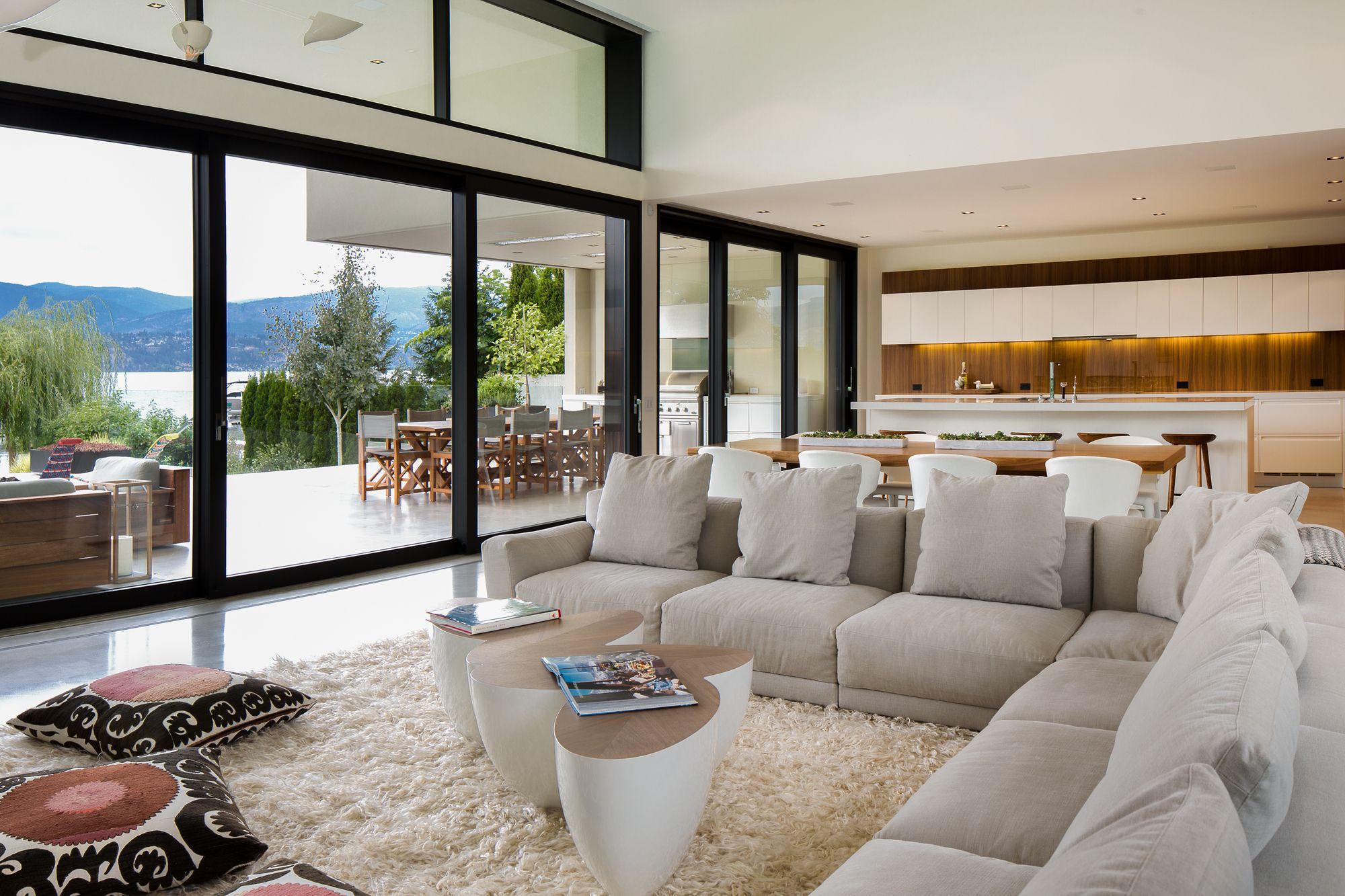 Astonishing Kelowna Lake House Next House House Living Room Modern Home Interior And Landscaping Mentranervesignezvosmurscom