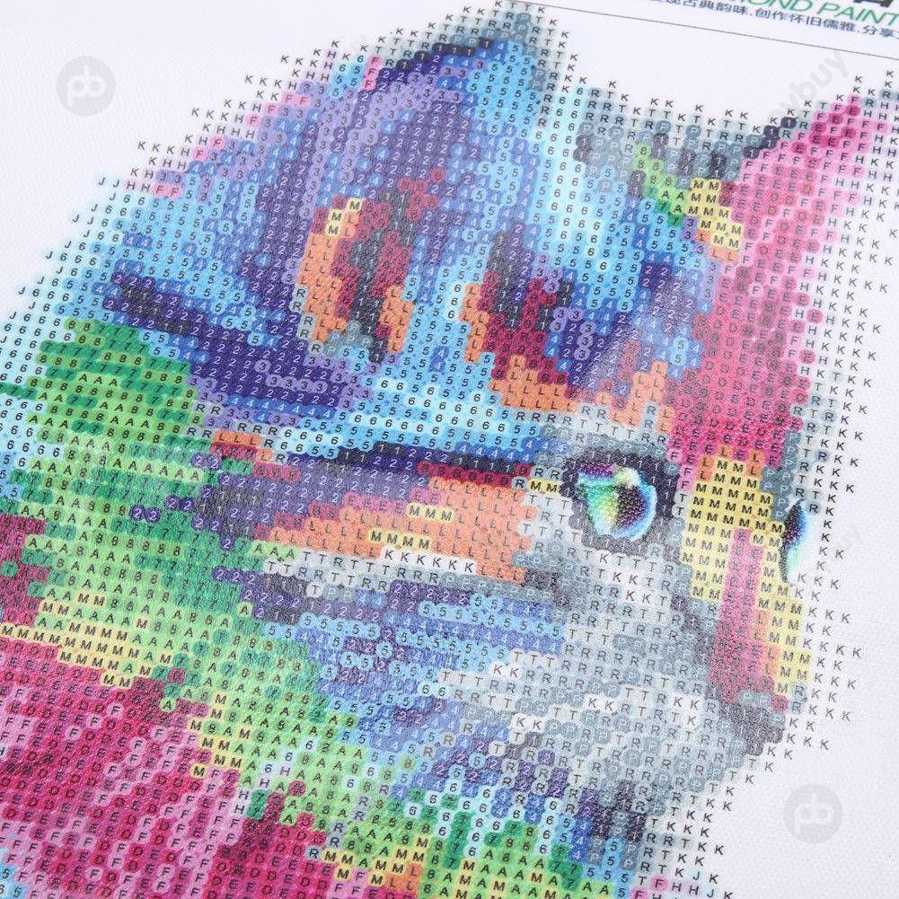 5D DIY Full Drill Diamond Painting Animal Cross Stitch Embroidery Arts Kit Decor