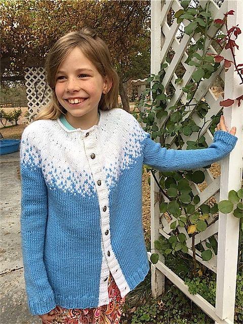 Knitting Patterns Galore Frost Princess Cardigans Pullis