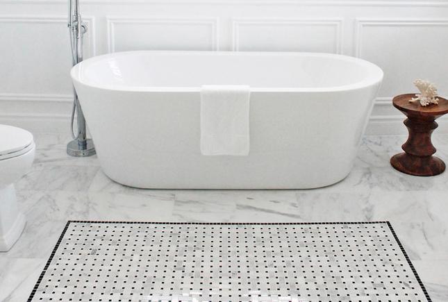Italian White Carrara Tile Or Arctic Marble For Your Bathroom