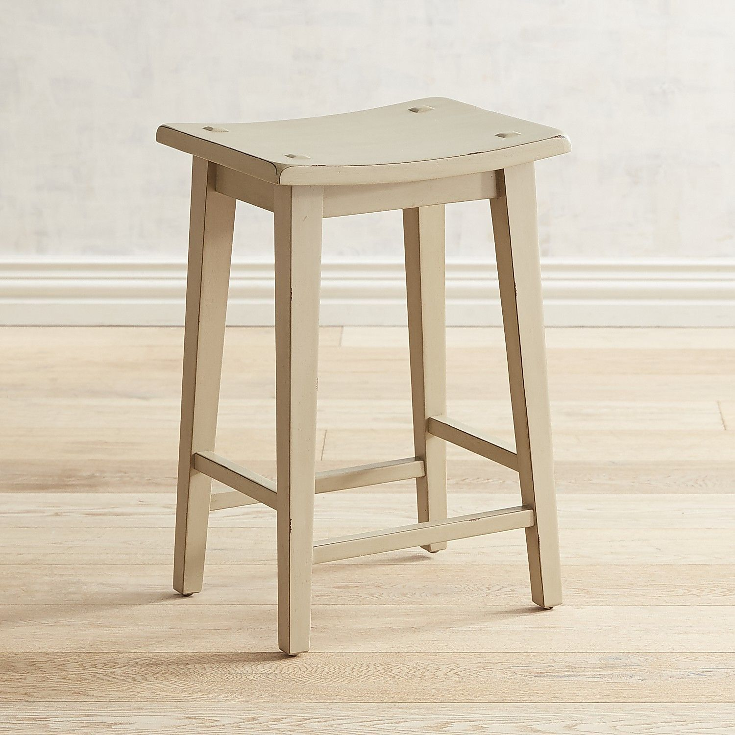 Lawson Linen Gray Backless Counter Stool