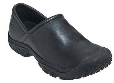 Keen Ptc Slip On Black Mens Work Shoes Kitchen Shoes