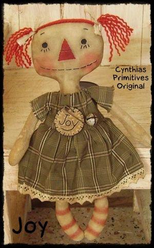 Free Primitive Sewing Patterns | Ann Doll Pattern Joy-primitive ...