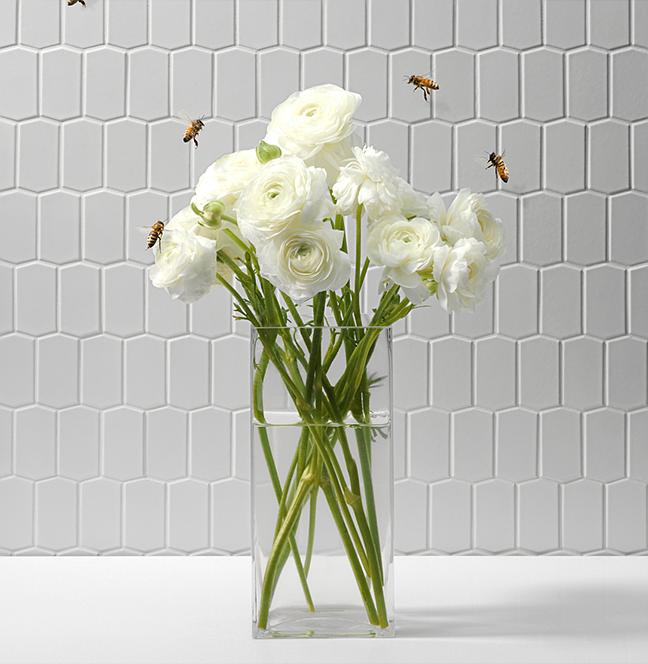 "Ann Sacks Mosaic Bathroom Tile: Savoy ""Hive"" Mosaic Tile - Ann Sacks"